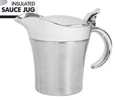 400ML Double Insulated Stainless Steel Sauce Jug Gravy Boat Kitchen Server