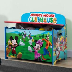 Delta Children Deluxe Mickey Mouse Toy Storage Bench DEL1780
