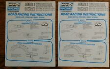 Two Marchon MR-1 Slot Car Racing Instructions Manuals and Two Track layouts ONLY