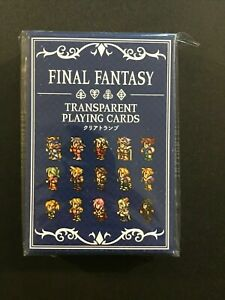 Final Fantasy Transparent Blue Playing Cards