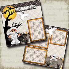 MUMMIFIED - 2 Premade Scrapbook Pages - EZ Layout 852