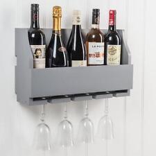 Dipinto TORTORA robusto in legno parete stelo in vetro 4 5 flacone di vino Rack