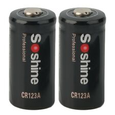 2pcs CR123A 3.0V 1600mAh Primary Battery for Tactical flashlight for Soshine G9