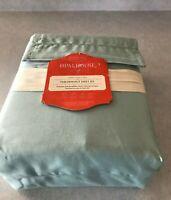 Opalhouse Twin/XL Twin Performance Sheet Set Aqua Blue Solid 100% Cotton