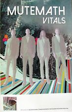 """MUTEMATH """"VITALS"""" U.S. PROMO POSTER + AUTOGRAPHED CD COVER"""