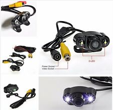 12V Waterproof 170° Wide Angle 2-LED Car SUV CMOS Reverse Parking Backup Camera