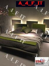 Bedroom Dresser Headboard LED Lighting Strip + Dimmer + Remote + Wireless!! 17ft