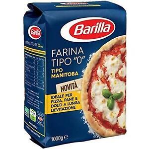 FARINA MANITOBA BARILLA 1 KG GRANO TENERO TIPO 0 PIZZA PANE DOLCI IMPASTO TENACE