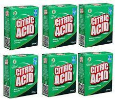 6 x Dri Pak propre et naturel acide citrique 250 g multi-usage naturel citrique ...