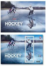 US & Canada - History of Hockey Joint Issue - Mint Souvenir Sheets 2017