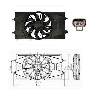 Dual Rad & Cond Fan Assembly Fits: 2003 - 2007 Saturn Ion L4 2.2L ONLY