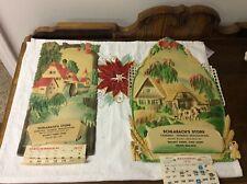 2 Antique Diecut Calendar Tops With Walnut Creek Ohio Schlabach's Store