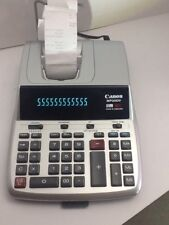 Canon 12-Digit Calculator/Calendar/Clock 2 color MP25DV-3 Silver  new ribbon
