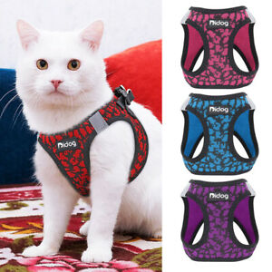 Pet Kitten Cat Walking Harness Reflective Puppy Dog Breathable Air Mesh Vest XS