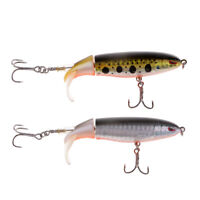 2 Stück Artificial Whopper Popper Angelköder Floating Hard Bait Grau / Gelb