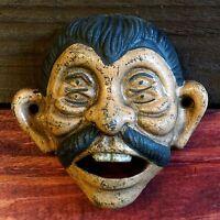 Four Eyed Pepe Cast Iron Wall Mounted Bottle Opener - Bar, Man Cave, Pub, Garage