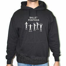FELPA FRUIT OF THE LOOM BALLET DANZA POSITIONS STICK MAN DANCING FUN T15AF