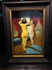 Rare! THOMAS ATTARDI Original Signed Sculpture / Oil Painting Shadowbox Vertical