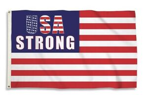3'x5' USA STRONG Flag New In Package w/reinforced Metal Grommets Limited Edition