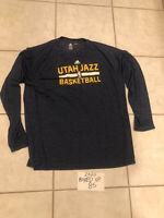 Team Issued Adidas Mens NBA Utah Jazz T-Shirt Dri Fit XL Used Gobert Mitchell
