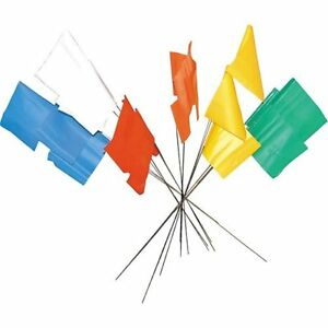 RED - PLASTIC SURVEY MARKER FLAGS - PACK OF TEN - EXCELLENT QUALITY - TRIALS