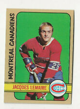 1972-73 Jacques Lemaire Topps Hockey card.  Montreal Canadiens #25