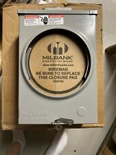 Milbank 125 Amp Meter Pan U8569-Yl Series