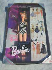 35th Anniversary Original 1959 Barbie Doll & Package Repro Blonde Hair Nib New