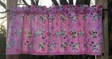 Handcrafted Curtain Valance Sewn From Minnie Mouse Daisy Duck Pink Dot Fabric