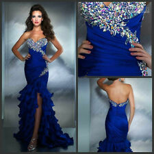 Formal Mermaid Long Prom Dresses Party Ball Evening Pageant Wedding Gowns Custom