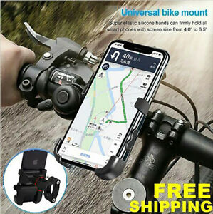 2-in-1 Motorcycle Phone Holder Handlebar Mount QC3.0 Fast Charging USB Charger