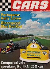 Cars & Car Conversions Jul 1978-TR7 Escort Formula 3 Porsche 924 Portugese Rally