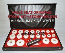 BLACK & DECKER VALVE SEAT GRINDER STONES ZIRCON WHITE 20 PCS & HOLDER 100 GRIT