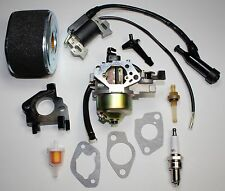 NEW GX390 13HP HONDA CARBURETOR WITH IGNITION COIL, SPARK PLUG AND AIR FILTER.