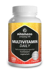 (€35,24/100g) Multivitamin Daily hochdosiert (ohne Jod) 120 vegetarische Kapseln