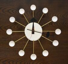 George Nelson White Ball Clock for Howard Miller Mid Century Modern