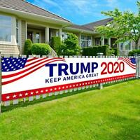 """Trump 2020 Flag - Keep America Great Yard Sign, Extra Large 98"""" x 20"""" Donald Tr"""