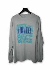 Nirvana 1990s Vintage Long Sleeve Grey T-Shirt