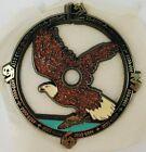 """Ramar Ind. Plastic Clock Face Eagle 1984 Sticky Back 4"""" Diameter Vintage"""