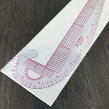 3In1 Multifunction Styling Design Plastic Ruler French Curve Hip Straight Ruler