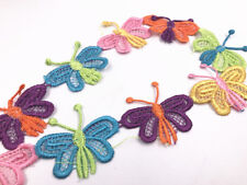 2 Yards butterfly-shape Embroidered lace Trim Wedding Decor Sewing Accessories