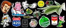 16 Weed Marijuana Cannabis Parody Vinyl Stickers