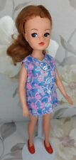PEDIGREE 1974 SINDY DOLL 'SLEEVELESS DRESS' OUTFIT (S800) WITH SHOES (NO DOLL)