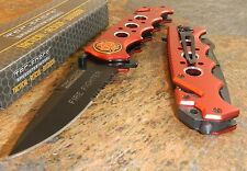TAC-FORCE RED FIRE FIGHTER Assisted Opening Glass Breaker Rescue Knife NEW!!
