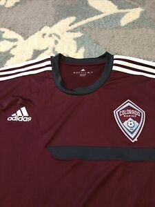 Adidas MLS Colorado Rapids Soccer Training Jersey XL Climacool Maroon