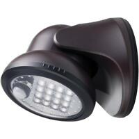 Light It! Bronze Motion Activated Integrated LED Outdoor Wireless  Flood Light