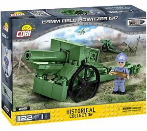 COBI Historical Collection 155mm Field Howitzer 1917 WWI Building Block Set 2981