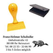 Adressenstempel « MURMELTIER » mit Kissen - Firmenstempel - Jäger Förster Natur