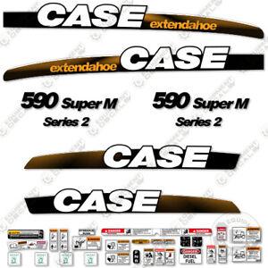 Case 590 SuperM Decal Kit Series 2 Backhoe Loader - 7 YEAR VINYL