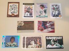 Lot 10 Joe Namath Football Inserts + 2x #'d /150  /250 New York Jets VG-Mint
